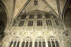 Detalhe de catedral de St Albans Hertfordshire, Inglaterra, Reino Unido fotografia de stock royalty free