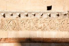 Detalhe de catedral de Verona - XII século Itália imagens de stock royalty free