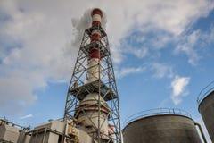 Detalhe de central elétrica de carvão Imagens de Stock Royalty Free