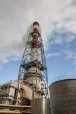 Detalhe de central elétrica de carvão Foto de Stock Royalty Free