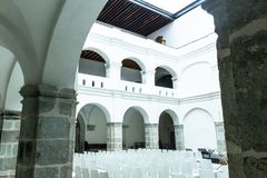 Detalhe de centro de San Pablo Cultural em Oaxaca México imagens de stock