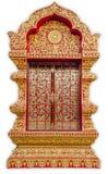Detalhe de chiangmai da porta do templo s, Tailândia. Imagens de Stock Royalty Free