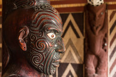 Detalhe de cinzeladura maori fotografia de stock royalty free