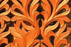Detalhe de cinzeladura nepalês Fotos de Stock Royalty Free