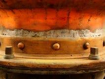 Detalhe de cobre do Grunge foto de stock royalty free