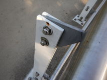 Detalhe de conexão de parafuso de uma construção de aço Fotografia de Stock