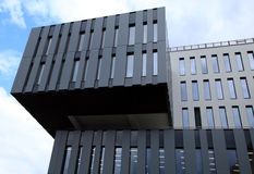 Detalhe de construção futurista moderna da arquitetura fotografia de stock royalty free