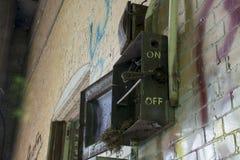 Detalhe de construção histórica do fechamento 19 no Rio Ohio fotografia de stock royalty free