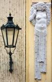 Detalhe de construção de Art Nouveau em Praga, República Checa Fotos de Stock