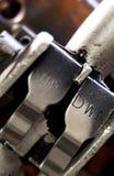 Detalhe de controle industrial do elevador Fotos de Stock Royalty Free