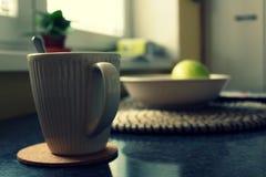 Detalhe de copo do coffe Foto de Stock Royalty Free