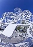 Detalhe de corpo da escultura de conhecimento Fotografia de Stock Royalty Free