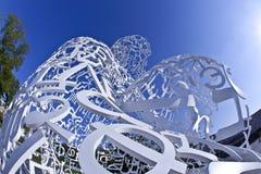 Detalhe de corpo da escultura de conhecimento Foto de Stock Royalty Free