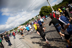 Detalhe de corredores no ó quilômetro de PIM Fotos de Stock