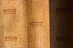 Detalhe de cortina retroiluminada no por do sol Fotos de Stock Royalty Free