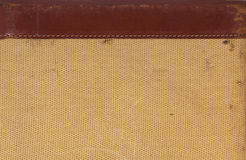 Detalhe de couro e textura tecida para o fundo Fotografia de Stock Royalty Free