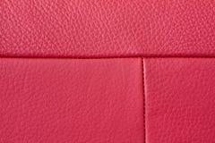 Detalhe de couro vermelho Fotografia de Stock