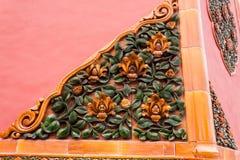 Detalhe de decorações em uma parede, Pequim, China Imagem de Stock