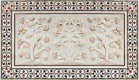 Detalhe de decorar o Taj Mahal Imagens de Stock