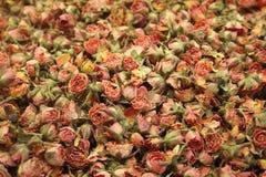 Detalhe de diversas rosas secas pequenas Foto de Stock