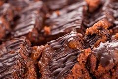 Detalhe de doce no gelado dos sachers Imagem de Stock