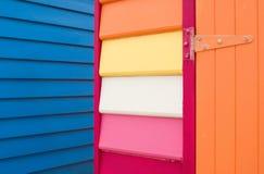 Detalhe de edifício de madeira colorido Foto de Stock Royalty Free