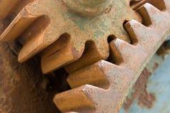 Detalhe de engrenagens oxidadas velhas Imagens de Stock Royalty Free
