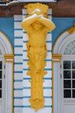 Detalhe de eremitério do pavilhão no parque de Catherine em Tsarskoe Selo no inverno pushkin St Petersburg Rússia fotos de stock
