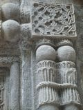 Detalhe de esculturas na pedra da parede de um monastério em Armênia Imagem de Stock Royalty Free