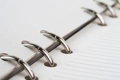 Detalhe de espiral - bloco de notas encadernado Imagem de Stock