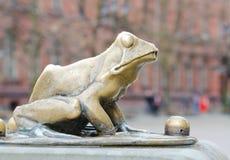 Detalhe de estátua do Raftsman, Torun imagem de stock