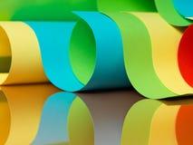 Detalhe de estrutura acenada do papel colorido Imagem de Stock