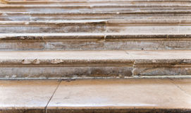 Detalhe de etapas de pedra vestidas velhas Imagens de Stock