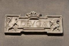 Detalhe de fachada da casa Imagens de Stock Royalty Free