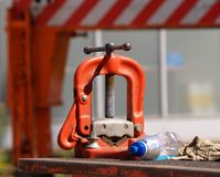 Detalhe de ferramenta da construção. fotos de stock