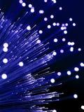 Detalhe de fibra - lâmpada ótica Imagens de Stock