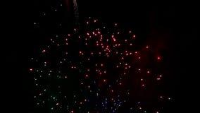 Detalhe de fogos-de-artifício video estoque