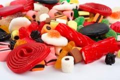 Detalhe de fundo colorido dos doces imagem de stock
