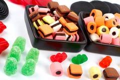 Detalhe de fundo colorido dos doces Fotografia de Stock Royalty Free