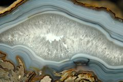 Detalhe de fundo mineral da ágata Fotografia de Stock