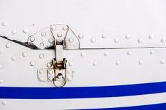 Detalhe de fuselagem de aviões clara do esporte foto de stock royalty free