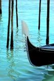 Detalhe de gôndola, canal grande de Veneza Fotografia de Stock