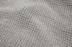 Detalhe de Gray Fluffy Fabric Texture Background fotografia de stock royalty free
