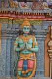 Detalhe de Hanuman Statue no templo hindu Fotos de Stock