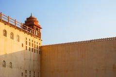 Detalhe de Hawa Mahal, o palácio dos ventos, Jaipur Imagem de Stock Royalty Free