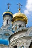 Detalhe de igreja ortodoxa imagem de stock