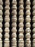 Detalhe de janelas típicas em Angkor Wat em Camboja Imagens de Stock