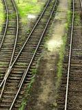 Detalhe de junção railway Fotos de Stock Royalty Free