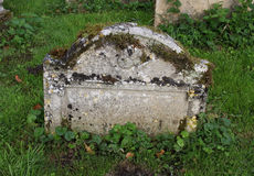 Detalhe de lápide velha Foto de Stock