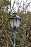 Detalhe de lâmpada de rua fotografia de stock